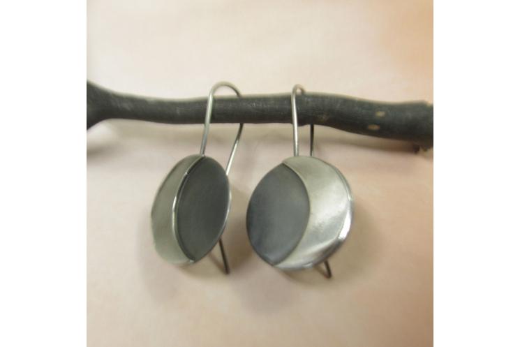 Argentium Sterling Silver Moon Earrings Image 4
