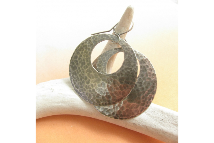Sterling Silver Gypsy Hoop Earrings - photo 2