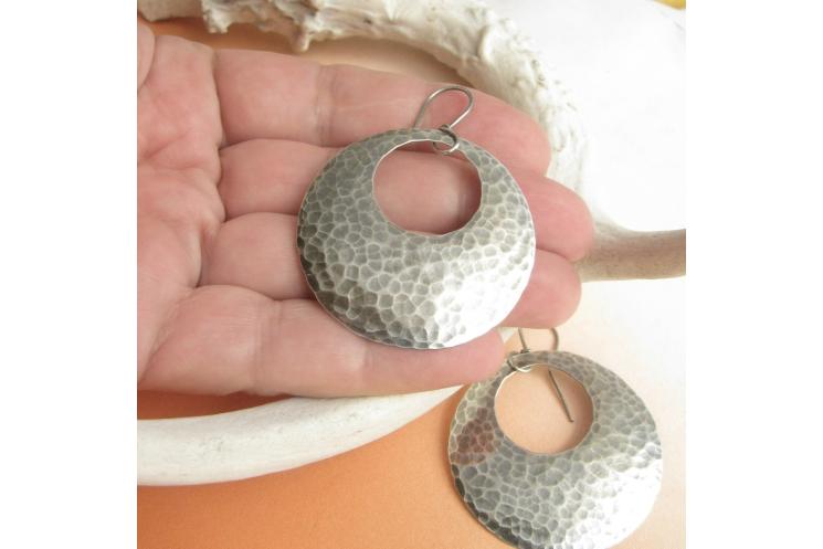 Sterling Silver Gypsy Hoop Earrings - photo 3