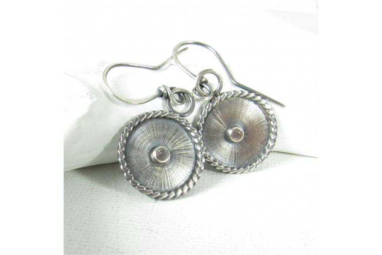 Unique Sterling Silver Disc Earrings