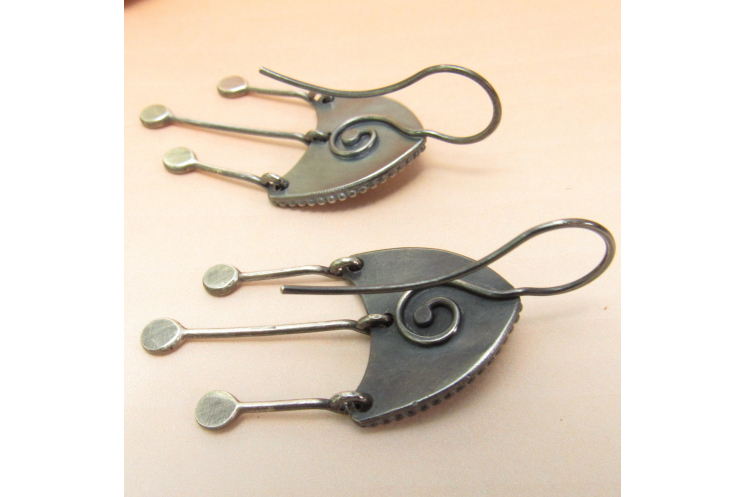 Moonstone Medusa Earrings - Image 5