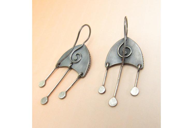 Moonstone Medusa Earrings - Image 4