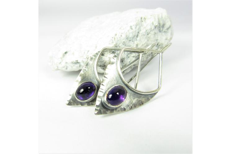 Amethyst Earrings In Argentium Sterling Silver
