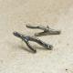 Argentium coral twig earrings Image 2