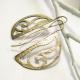 Solid Bronze Art nouveau Earrings