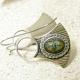 Mixed Metal Scarab Earrings