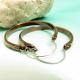 Lareg Hammered Copper Hoop Earrings Image 2