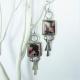 Argentium Silver And Rhodonite Earrings By Mocahete