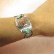 One Of A Kind Turquoise And Fossil Coral Bracelet