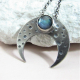 Labradorite Crescent Moon Pendant Necklace