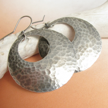 Sterling Silver Gypsy Hoop Earrings - photo 1