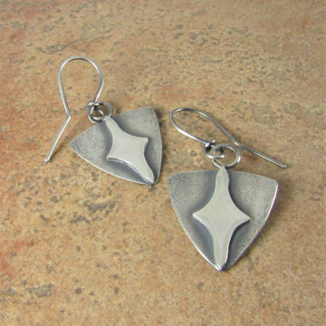Argentium Sterling Silver Evening Star Earrings