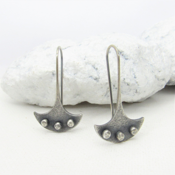 Edgy Sterling Silver Earrings With a Modern Tribal Vibe