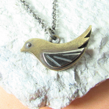 Small Golden Bird Necklace