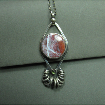Palm Sagenite And Peridot Statement Necklace Image 2