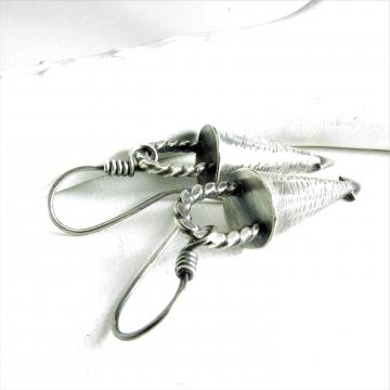Argentium Sterling Silver Cone Earrings